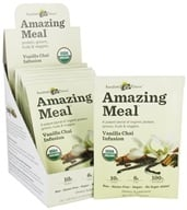 Amazing Grass - Amazing Meal Powder Packets Vanilla Chai Infusion - 10 x 24g Packets by Amazing Grass
