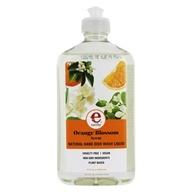 Earthy - Clean Dishes Natural Hand Dish Wash Liquid Orange Blossom - 17 oz. by Earthy