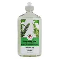Earthy - Clean Dishes Natural Hand Dish Wash Liquid Rosemary Mint - 17 oz. by Earthy
