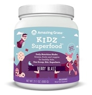 Amazing Grass - Kidz SuperFood Powder 100 Servings Wild Berry Flavor - 21 oz.