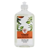 Earthy - Clean Dishes Natural Hand Dish Wash Liquid Petitgrain - 17 oz.