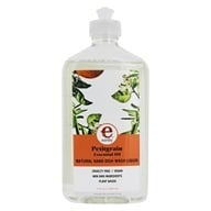 Earthy - Clean Dishes Natural Hand Dish Wash Liquid Petitgrain - 17 oz. by Earthy