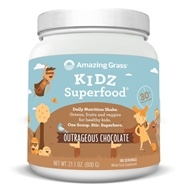 Amazing Grass - Kidz SuperFood Powder 100 Servings Outrageous Chocolate Flavor - 21 oz. (829835000579)