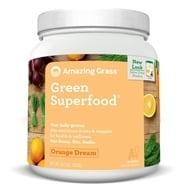 Amazing Grass - Green SuperFood Drink Powder 100 Servings Orange Dreamsicle - 28 oz. by Amazing Grass