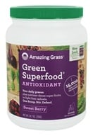 Image of Amazing Grass - Green SuperFood Drink Powder 100 Servings Antioxidant Berry - 24.7 oz.