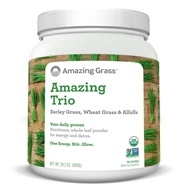 Image of Amazing Grass - The Amazing Trio Barley, Wheat Grass & Alfalfa Whole Food Drink Powder 100 Servings - 28 oz.