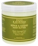 Nubian Heritage - Hair Butter Repair & Extend EVOO & Moringa - 6 oz. by Nubian Heritage