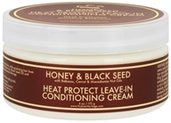 Image of Nubian Heritage - Leave-In Conditioning Cream Heat Protect Honey & Black Seed - 6 oz.