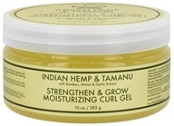 Nubian Heritage - Moisturizing Curl Gel Strengthen & Grow Indian Hemp & Tamanu - 10 oz. (764302111375)