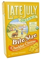 Late July Organic - Organic Bite Size Crackers Cheddar Cheese - 5 oz.