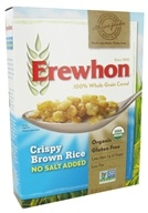 Erewhon - Organic Whole Grain Cereal Crispy Brown Rice No Salt Added - 10 oz., from category: Health Foods