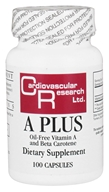 Ecological Formulas - A Plus Oil-Free Vitamin A and Beta Carotene 25000 IU - 100 Capsules (Formerly Cardiovascular Research)