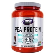 NOW Foods - Pea Protein 100% Pure Non-GMO Vegetable Protein Dutch Chocolate - 2 lbs. (733739021335)