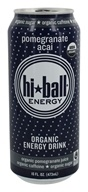 Image of Hi Ball - Organic Energy Drink Pomegranate Acai - 16 oz.