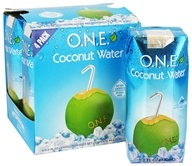 O.N.E. - Coconut Water 100% Natural Fat Free 4 x 11.2 oz. Cartons