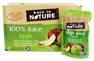 Back To Nature - 100% Natural Juice 8 x 6 oz. Pouches Apple