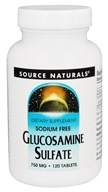 Source Naturals - Glucosamine Sulfate Sodium Free 750 mg. - 120 Tablets