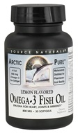 Source Naturals - Arctic Pure Omega-3 Fish Oil Lemon Flavored 800 mg. - 30 Softgels