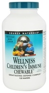 Source Naturals - Wellness Children's Immune - 120 Chewable Wafers