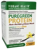 Vibrant Health - Pure Green Protein Powder Vanilla 10 Packets - 11.1 oz.