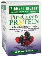 Vibrant Health - Pure Green Protein Powder Mixed Berry 10 Packets - 10.64 oz.