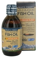 Wiley's Finest - Wild Alaskan Fish Oil 660mg EPA + DHA Orange Burst - 8.45 oz.