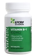 LuckyVitamin - Vitamin B1 100 mg. - 100 Tablets