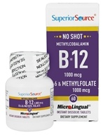 Superior Source - No Shot B12 Methylcobalamin 1000 mcg. B6 & Methylfolate 1000 mcg. - 60 Tablet(s)