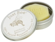 Just Bee Cosmetics - 100% Natural Beeswax Lotion Bar Patchouli Geranium - 1.75 oz.