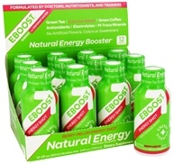Eboost - Natural Energy Shot with Coconut Water Berry-Melon - 2 oz.