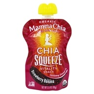 Mamma Chia - Organic Chia Squeeze Vitality Snack Strawberry Banana 1200 mg. - 3.5 oz.