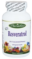 Paradise Herbs - Resveratrol 20:1 Concentrated Potency - 180 Vegetarian Capsules