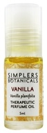 Simplers Botanicals - Therapeutic Perfume Oil Vanilla - 5 ml.