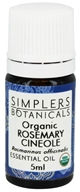Simplers Botanicals - Essential Oil Organic Rosemary Cineole - 5 ml.