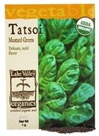 Lake Valley Seed - Organic Tatsoi Mustard Greens Seeds - 1 Grams