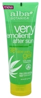 Alba Botanica - Very Emollient After Sun 98% Aloe Vera Gel - 8 oz.