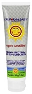 California Baby - Sunscreen Super Sensitive No Fragrance 30 SPF - 1.3 oz.