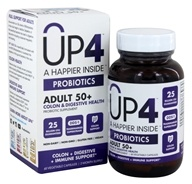 UP4 - A Happier Inside Probiotics Adult 50+ - 60 Vegetarian Capsules Probiotics Senior Probiotic Supplement with DDS-1