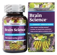 ResVitale - Brain Science with Cereboost American Ginseng - 30 Vegetarian Capsules