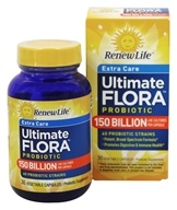 Renew Life - Ultimate Flora Extra Care Probiotic 150 Billion - 30 Vegetarian Capsules Formerly Mega Potent