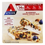 Atkins Nutritionals Inc. - Advantage Meal Bar Blueberry Greek Yogurt - 5 Bars