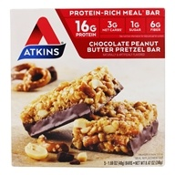 Atkins Nutritionals Inc. - Advantage Meal Bar Chocolate Peanut Butter Pretzel Bar - 5 Bars
