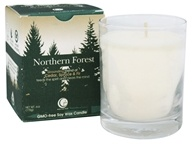 Way Out Wax - Soy Wax Candle Clear Glass Tumbler Northern Forest - 6 oz.