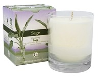 Way Out Wax - Soy Wax Candle Clear Glass Tumbler Sage - 6 oz.
