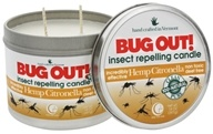 Way Out Wax - Bug Out! Insect Repelling 2 Wick Candle Hemp Citronella - 14 oz.