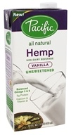 Pacific Foods - All Natural Hemp Milk Unsweetened Vanilla - 32 oz.