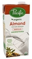 Pacific Natural Foods - Organic Almond Milk Unsweetened Vanilla - 32 oz.