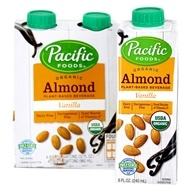 Pacific Natural Foods - Organic Almond Milk Low Fat Vanilla - 4 x 8 oz. Cartons
