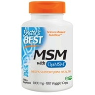 Doctor's Best - Best MSM 1000 mg. - 180 Vegetarian Capsules