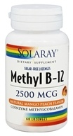 Solaray - Methyl B12 Natural Mango Peach Flavor 2500 mcg. - 60 Lozenges